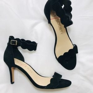 Sole Society Shoes - Sole Society Black Strappy Heels